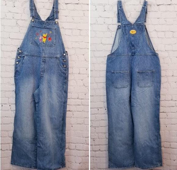 Disney Denim - Vintage Disney Winnie the Pooh Overalls, Size XL